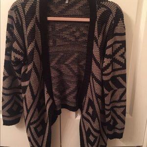723b6a32ea Women s Black And White Aztec Tribal Cardigan Sweater on Poshmark